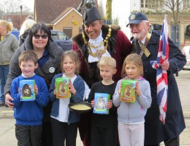 The Infants winners from Newburgh School, together with Sarah Wrist from Tesco, Mayor Counc.Bob Dhillon and Rotary President Mike Swaby