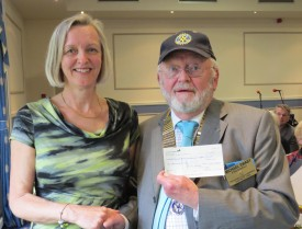 Cheque presentation to Anne Oliver from Leukaemia & Lymphoma Research