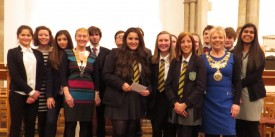 The Senior teams with The Mayor of Warwick (Cllr. Moira-Ann Grainger) and Jackie Crampton - Presdemt of Warwick Rotary Club
