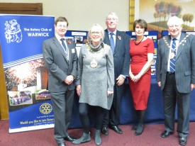 From L - R, Jon Wassall, Counc. Mandy Littlejohn, Derek Maudlin, Jane Topham, & Counc. Mike Doody