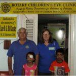 John & Fiona Miles at Eye Clinic in Calcutta
