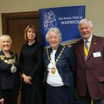 Picture shows Warwick Mayor, Cllr Mrs Christine Cross; Town Clerk, Jayne Topham; Cllr Jane Knight; & Rotary Vice President John Hibben,