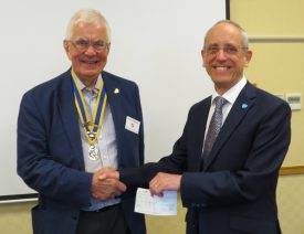 President John Hibben with Malcolm Rolfe